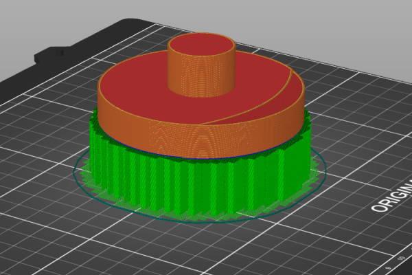 Prusa-Slicerでツバ部にサポートの設定