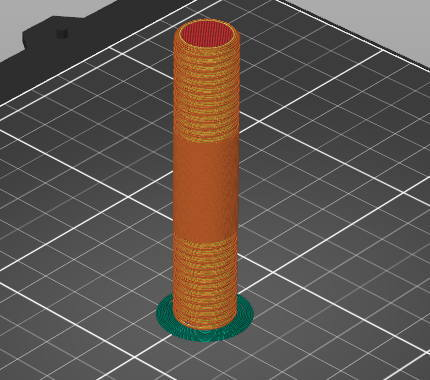 Prusa-Slicer円柱形状でブリム
